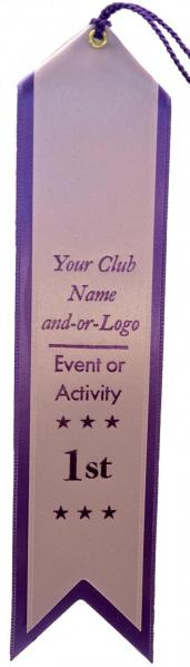 Custom Rosette Event Award Ribbons Canada Double